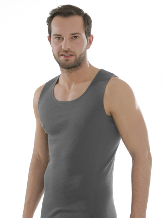 Comazo Biowäsche, Shirt für Männer, anthrazit - Vorderansicht