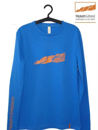 Comazo Biowäsche, Langarm Shirt für Damen in blau- Vorderansicht