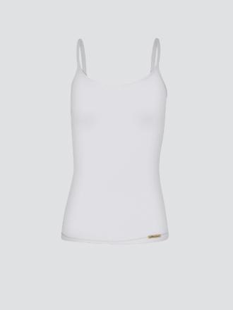 Comazo Biowäsche,  Spaghettiträger-Hemd für Damen in weiss - Vorderansicht