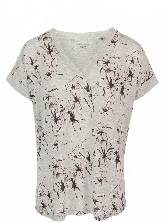 Comazo Lieblingswäsche Damen Homewear Shirt kurzarm in grau