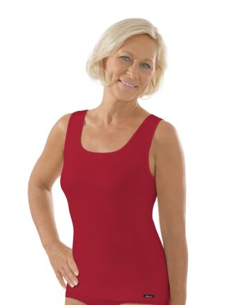 Comazo Unterwäsche, Unterhemd für Damen in rubin