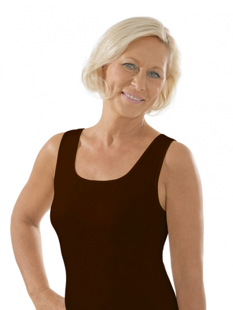 Comazo Unterwäsche, Unterhemd für Damen in mokka - Vorderansicht