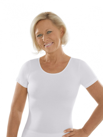 Comazo Unterwäsche, Kurzarm Shirt für Damen in weiss - Vorderansicht