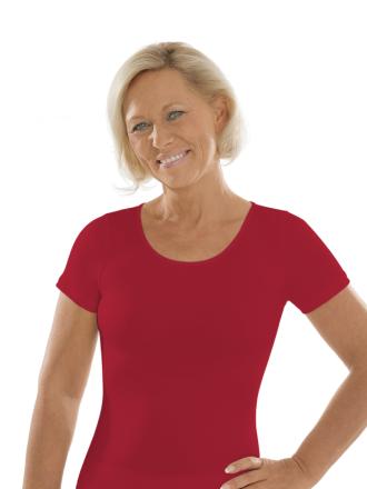 Comazo Unterwäsche, Kurzarm Shirt für Damen in rubin