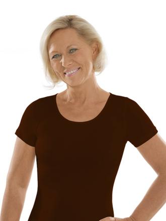 Comazo Unterwäsche, Kurzarm Shirt für Damen in mokka - Vorderansicht