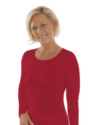 Comazo Unterwäsche, Langarm Shirt für Damen in rubin
