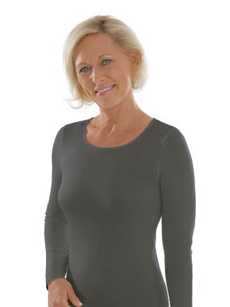 Comazo Unterwäsche, Langarm Shirt für Damen in grau -Vorderansicht