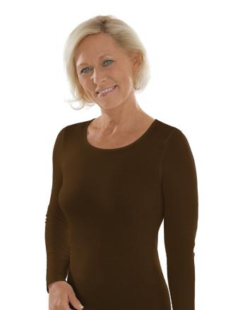 Comazo unterwäsche, Langarm Shirt für Damen in schwarz - Vorderansicht