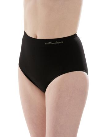 Comazo Shapewear, Slip figurformend für Damen, schwarz - Vorderansicht