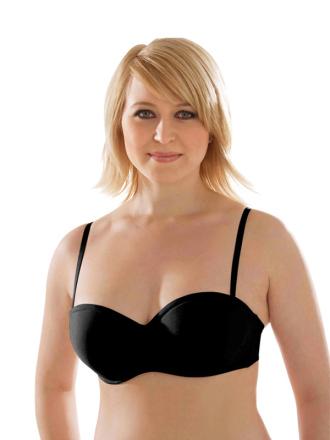 Comazo Unterwäsche, Balconette-BH für Damen in schwarz- Vorderansicht