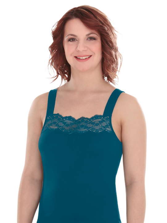 Comazo Lieblingswäsche, Unterhemd für Damen in petrol