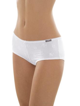 Comazo Unterwäsche, Panty mit Stickblümchen für Damen in weiss - Vorderansicht