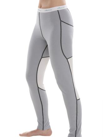 Comazo Funktionswäsche, Lange Hose für Damen in silver/offwhite - Vorderansicht