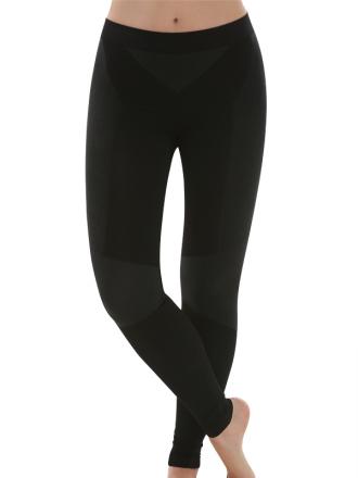 Comazo Funktionswäsche, Lange Unterhose für Damen in schwarz/anthrazit  - Vorderansicht