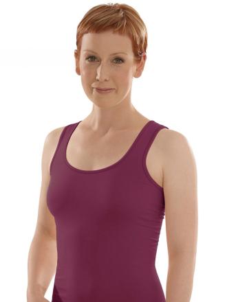Comazo Biowäsche, Unterhemd für Damen in brombeer - Vorderansicht