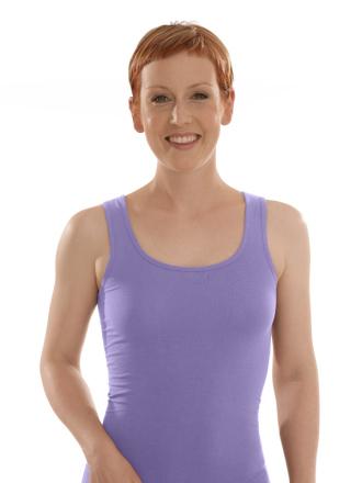 Comazo Biowäsche, Unterhemd für Damen in flieder - Vorderansicht