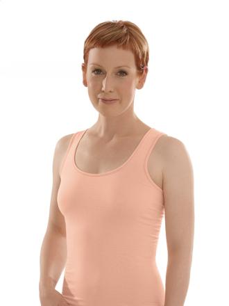 Comazo Biowäsche, Unterhemd für Damen in peach - Vorderansicht