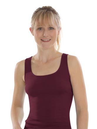 Comazo Biowäsche, Unterhemd Achselträger für Damen in burgund
