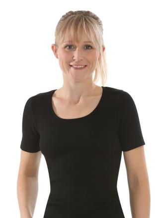 Comazo Biowäsche, kurzarm Shirt für Damen in schwarz