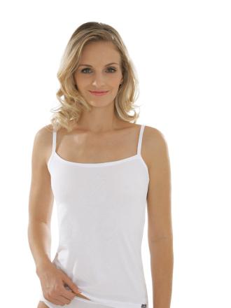 Comazo Unterwäsche, Spaghettiträger-Hemd für Damen in weiss - Vorderansicht