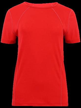 Unterwäsche Damen Shirt Merinowollein granat