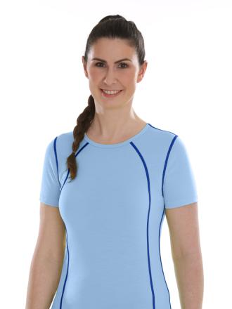 Comazo Lieblingswäsche active, Shirt kurzarm für Damen in jeans blue