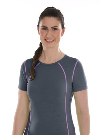 Comazo Lieblingswäsche active, Shirt kurzarm für Damen in dark grey