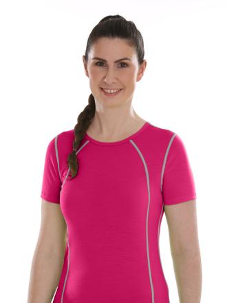 Comazo Lieblingswäsche active, Shirt kurzarm für Damen in pink
