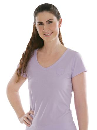 Comazo Biowäsche, Shirt für Damen in flieder - Vorderansicht