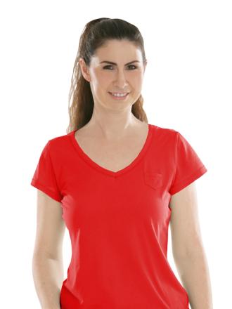 Comazo Biowäsche, Shirt für Damen in campari - Vorderansicht