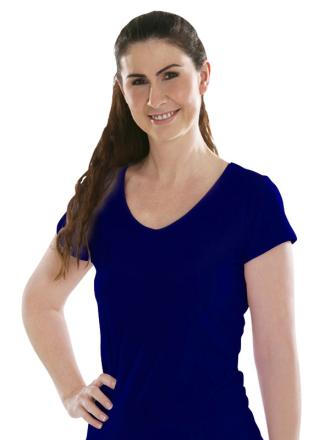 Comazo Biowäsche, Shirt für Damen in nachtblau - Vorderansicht