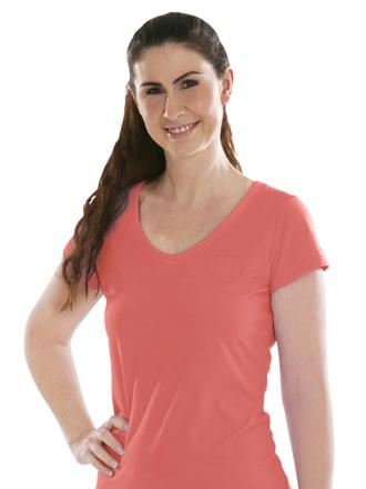 Comazo Biowäsche, Shirt für Damen in hummer - Vorderansicht