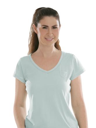 Comazo Biowäsche, Shirt für Damen in hellblau - Vorderansicht