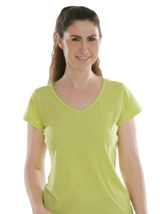 Comazo Biowäsche, Shirt für Damen in granny smith - Vorderansicht