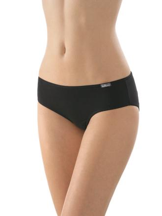 Comazo Unterwäsche, Hüft-Slip für Damen in schwarz - Vorderansicht
