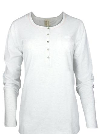 Comazo Lieblingswäsche Damen Shirt langarm in ecru-melange