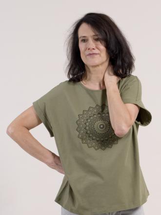 Comazo Biowäsche Damen Shirt mit Motivdruck in avokado