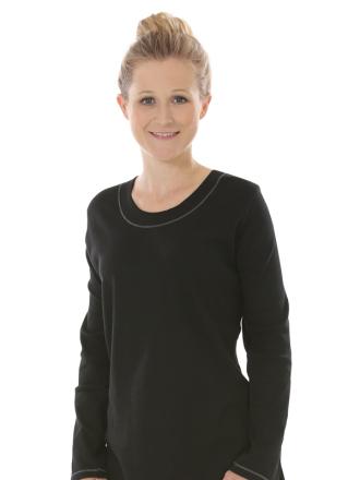Comazo Nachtwäsche, Shirt für Damen in black - Vorderansicht