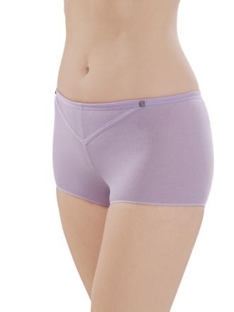 Comazo Biowäsche, Hot-Pants für Damen in flieder - Vorderansicht