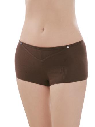 Comazo Biowäsche, Hot-Pants für Damen in schoko- Vorderansicht