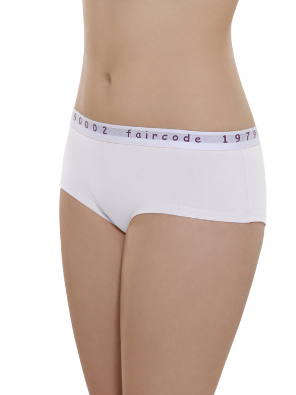 Comazo Biowäsche, Hot Pants low cut für Damen in weiss - Vorderansicht
