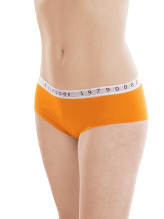 Comazo Biowäsche, Hipster für Damen in mandarine - Vorderansicht