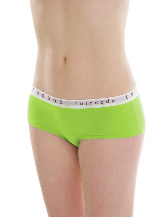 Comazo Biowäsche, Hot-Pants für Damen in lime green - Vorderansicht