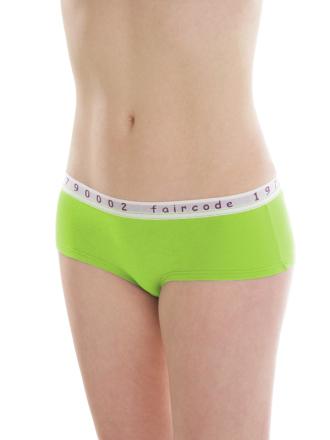 Comazo Biowäsche, Hot-Pants für Damen in lime green - Vorderansicht
