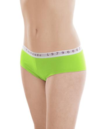 Comazo Biowäsche, Hipster für Damen in lime green - Vorderansicht