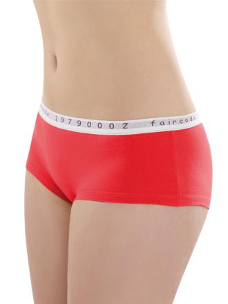 Comazo Biowäsche, Hot Pants low cut für Damen in apfelrot