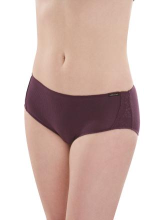 Comazo Biowäsche, Hot-Pants für Damen in pflaume - Vorderansicht