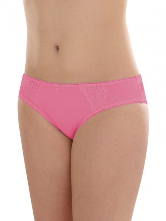 Comazo Unterwäsche, Jazz-Pants mit Stickerei in pink - Vorderansicht