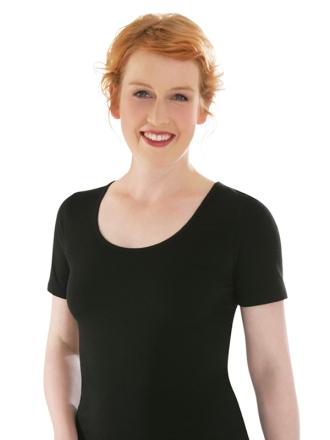 Comazo Biowäsche, Shirt für Damen in schwarz - Vorderansicht