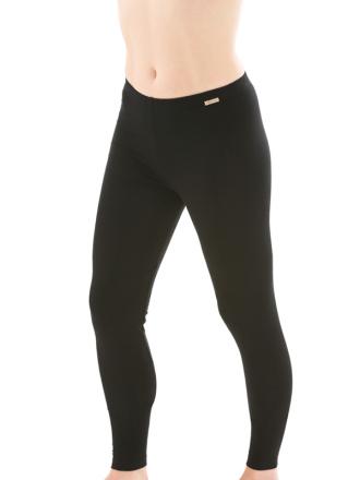 Comazo Biowäsche, Leggings für Damen in schwarz - Vorderansicht